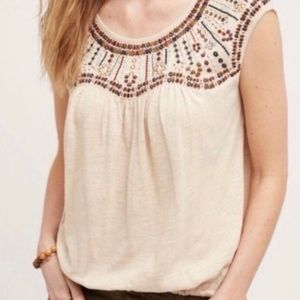 Anthropologie Akemi+Kin Size S Beaded